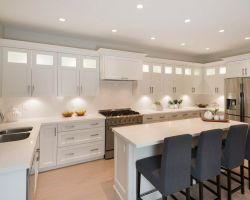 family friendly kitchen design with a large amount of storage