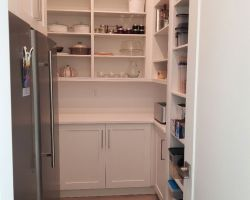 custom cabinetry in kitchen pantry